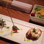 41335398 - 料理長コースA  1780円  の前菜とサラダ