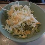天下一品 - ラーメン定食のサラダ