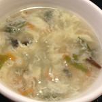 中華料理 栄海 - 中華風玉子スープ 具沢山ではあります