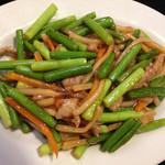 中華料理 栄海 - 日替り定食のニンニクの芽と豚肉の炒め