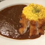 Cafe&Dining SHELF - ふわとろオムライス〜欧風カレーソース*チキンカツトッピング〜