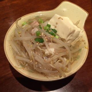 かずお - 仲見世ハシゴしナイト(1品と1杯で750円相当)の塩もつ煮込み2015年8月