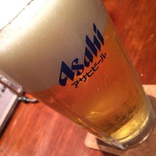かずお - 仲見世ハシゴしナイト(1品と1杯で750円相当)の生ビール2015年8月