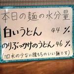うどん sugita - 変動型加水率