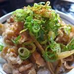 丸亀製麺 - 青ネギに唐辛子もぶっかけ