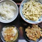 丸亀製麺 - 鬼おろし肉(冷)ぶっかけ&白飯