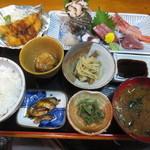 かっぽう田舎 - 料理写真:刺身定食 1500円(2015.8)