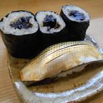 竹はる - コハダ、干瓢巻き