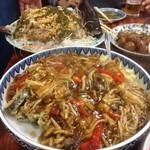 北京亭 - 鮭の甘酢餡かけ