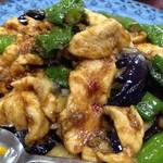 北京亭 - 鶏肉の茄子辛し炒め