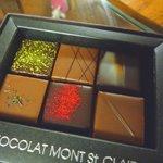 モンサンクレール - 6種類のフレーバーチョコが入っています。美味しそう~!(2010/2)