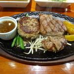 ブッチャーズ☆グリル - ブッチャーズステーキ(150g)&ハンバーグセット(2,150円)