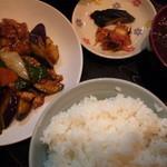 41350519 - 肉茄子ぴり辛炒め定食