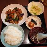 41350531 - 肉茄子ピリ辛炒め定食