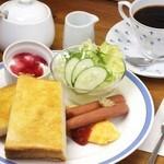 KAFEOTANI - モーニングセット(トーストとプレーンオムレツ)