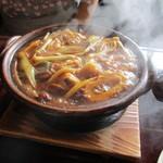 41351759 - 味噌煮込みうどん(八丁味噌ベース)味噌出汁つゆ絶品