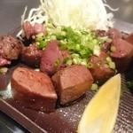 鉄板焼 曉 - 厚切り牛たんステーキ
