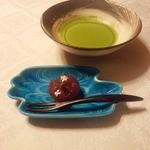 はり清 - 菓子・抹茶('15.08)