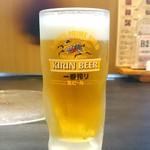 成吉思汗 大黒屋 - 一番搾り生ビール(490円)