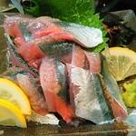 魚参 - 今シーズン初、秋刀魚のお造り