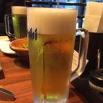 黒毛和牛焼肉 うしくろ - 生ビール