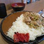 伝説のすた丼屋 - スタミナカレー(飯増し)_2015/08