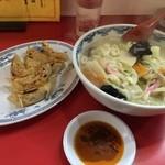 中華レストラン味一 - サービスセット670円(チャンポン&餃子)