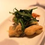 ヌーベルシノワ醐杜羽 - 鮎の香草揚げ カリットフリットでして、お野菜も美味しいです
