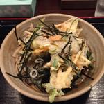めん処あかさか - 料理写真:ぶっかけうどん(かき揚げ天付) 617円