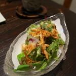 田舎 - 桜エビのサラダ