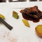 TOKI - 牛肉のグリエです。       お肉もソースも上質です。       お皿もきちんと温めており、最後まで美味しく頂けました。