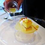 レストラン サンパウ - ピジャマ  黄桃、パイナップル、フラン、ミルクアイス