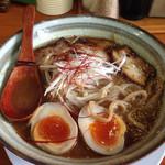 福来家 - 限定20杯の 魚介豚骨♬ 写真撮る前に ちょっと食べちゃった(^^;;