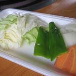 牧場館ジンギスカン食堂 - 野菜
