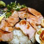 古都はピアノマン - 自家製ローストポーク丼 500円 + 大盛 100円