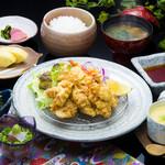浜菊 - 大分名物とり天定食