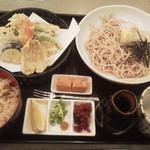 水車 - 夏季限定!夏野菜の天ぷら御膳980円(税込)