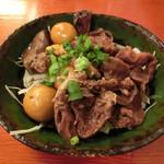 山梨郷土料理×日本酒・地酒 よってけし - 甲州 鳥もつ煮 500円。