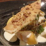 cenci - 黄金桃と毛蟹、ミントのきいたフロマージュブランのソース