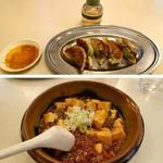 あさくさ食堂 - こちら約1年前の写真です。餃子も麻婆豆腐も今の方がパワーアップしてます^^