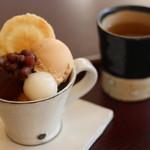 MAIKO茶ブティック - ミニほうじ茶パフェ