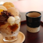 MAIKO茶ブティック - ほうじ茶パフェ