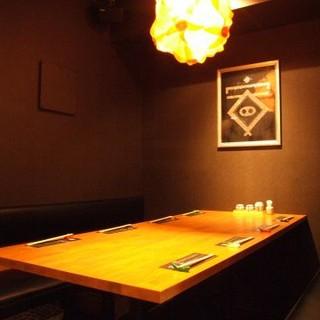 YASU【6名様~10名様】お洒落な個室をご用意しております