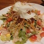 四季遊人  - 揚げ素麺のサラダ…面白い!o(^-^)o