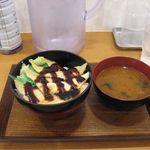 丼ぶりこ - 穴子丼と味噌汁(2015.08)