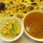 ラジャーインドレストラン - 「ちゅらグルメ ランチマップ」利用で「ナスとチキンのカレー」