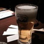 焼肉五苑 - 生ビール190円
