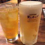 暖団家 - 生ビールと緑茶
