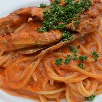 マザームーンカフェ - ワタリガニのトマトクリームソース
