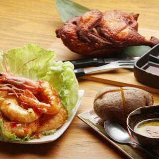 北海道産食材にこだわったメニューは自慢の逸品!